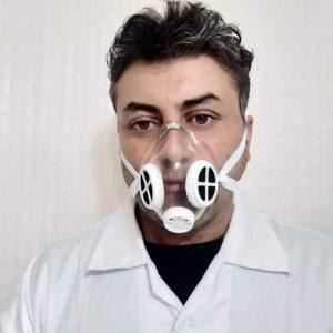 ماسک 2 فیلتره ژلاتینی N95